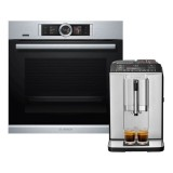 Bosch HBG6764S6B Serie | 8 Built-in Oven (71L) + TIS30321RW Fully Automated Coffee Machine