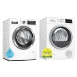 Bosch WAX32M40SG Front Load Washing Machine (10KG) + WTW85400SG Heat Pump Tumble Dryer (9KG)