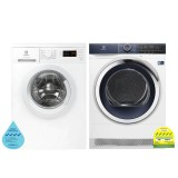 (Bundle) Electrolux EWF8025DGWA Washing Machine (8kg) + EDH803BEWA Heat Pump Dryer (8kg)