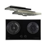(Bundle) Fujioh FH-GS 7020 SVGL Gas Hob + FR MS 1990 R Super Slim Cooker Hood (900mm)