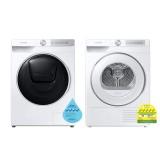 (Bundle) Samsung WW80T754DWH/SP Washing Machine (8kg) + DV80T6220HH/SP Heat Pump Dryer (8kg)