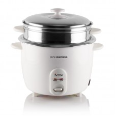 Iona GLRC181 Stainless Steel Rice Cooker With Steamer(1.8L)