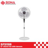"""Sona SFS 1155 16"""" Stand Fan With Remote"""