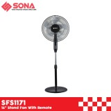 """Sona SFS1171 16"""" Stand Fan With Remote"""