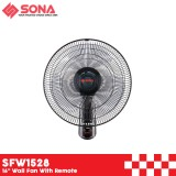 """Sona SFW 1528 16"""" Wall Fan With Remote"""